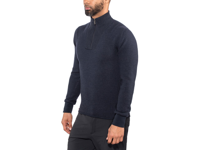 Woolpower 400 Sweat-shirt à col roulé avec demi-zip, dark navy